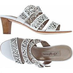 Tinsel Sandal  available at #Brighton Love the cutwork.