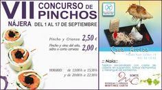 VII Concurso de Pinchos Ciudad de #Nájera  del 1 al 17 de septiembre de 2012  #Grastronomía y #Vino  #LaRioja