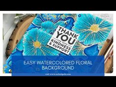Easy Watercolored Floral Background (MFT Stamps) - YouTube Pro Markers, Brush Markers, Card Tutorials, Video Tutorials, Paper Art, Paper Crafts, Happy July, Cardmaking And Papercraft, New Backgrounds