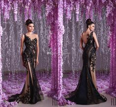 Toumajean Sexy Black Lace Evening Dresses Mermaid See Through Sleeveless Applique Tulle 2016 Women Pageant Party Gowns Long Prom Dress Cheap Evening Dresses Lace Prom Gowns Online with 168.0/Piece on Toprated's Store | DHgate.com