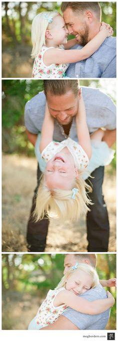 Adorable daddy-daughter photos - take same/similar photos every year on Father's Day