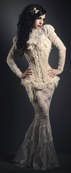 I love lace! Now if this is amazing, imagine it in black!