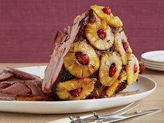 From the Neelys' Old Fashioned Glazed Ham to Michael Symon's Prime Rib, find delicious recipe ideas to feed your family and friends this holiday from Food Network. Best Christmas Recipes, Thanksgiving Recipes, Holiday Recipes, Best Holiday Ham Recipe, Best Ham Recipe, Recipe Tasty, Basic Recipe, Glaze Recipe, Holiday Meals