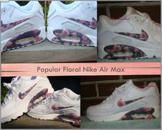Custom Popular Roses Floral Nike Air Max 90
