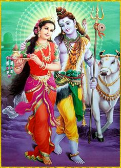 Shiva is the God of the yogis, self-controlled and celibate, while at the same time a remarkable lover of his spouse. Shiva Parvati relationship is depicted in many forms. Shiva Parvati Images, Shiva Shakti, Shiva Hindu, Krishna, Tantra, Lord Shiva Family, Lord Shiva Painting, Lord Murugan, Indian Goddess
