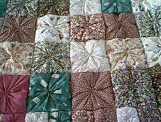 Image result for scrap fabric yo-yos