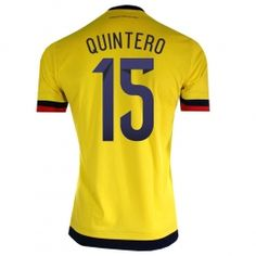 bc3a33b38 ... order 2015 colombia soccer team home yellow quintero 15 replica jersey  a949 dd118 af651