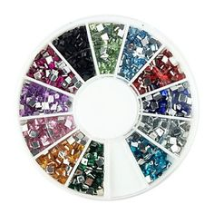 Kaifina 600PCS 2x2mm Square Arcylic Dimond Nail Art Decorations * Click on the image for additional details.
