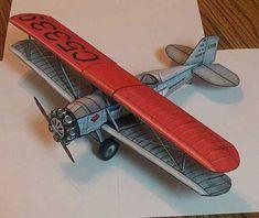 Boeing Model 40 Bi-plane Mailplane paper model fIDDLERSGREEN.COM