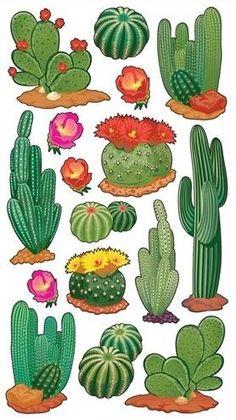 Desert Cactus Scrapbooking Stickers