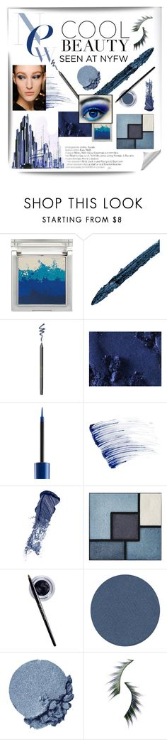 """True Blue: Cool Eyeshadow"" by alevalepra ❤ liked on Polyvore featuring beauty, Sue Devitt, Gucci, Borghese, MAC Cosmetics, Urban Decay, Lancôme, Bobbi Brown Cosmetics, Yves Saint Laurent and Maybelline"