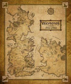 Westeros and Essos new map