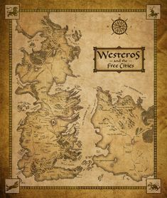 Game of thrones world map poster game of world and game thrones gumiabroncs Image collections