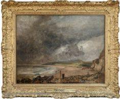 John CONSTABLE (East Bergholt (Suffolk), 1776 - Londres, 1837)  La Baie de Weymouth à l'approche de l'orage  H. : 0,88 m. ; L. : 1,12 m.  Don J. W. Wilson, 1873 , 1873  R.F. 39