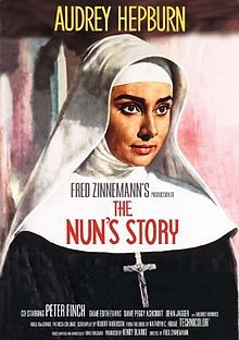 The Nun's Story is a 1959 Warner Brothers film directed by Fred Zinnemann and starring Audrey Hepburn. Based upon the 1956 novel of the same title by Kathryn Hulme, the story tells of the life of Sister Luke (Hepburn), a young Belgian woman who decides to enter a convent and make the many sacrifices required by her choice. However, at the outset of World War II, finds she cannot remain neutral in the face of the abject evil of Hitler's Germany.