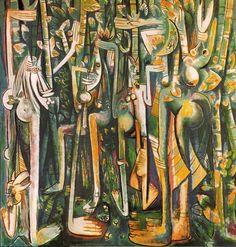 """Wifredo Lam """"The Jungle"""" is on view at Centre Pompidou art museum in Paris, France, from Latino Artists, Famous Artists, Michel Leiris, Expos Paris, Arte Yin Yang, Centre Pompidou Paris, Critique D'art, Georges Pompidou, Art Criticism"""