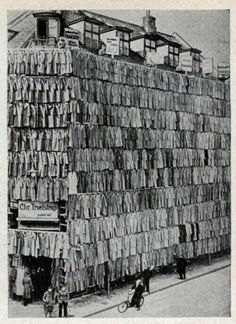 Large coat sale in Copenhagen, Denmark, 1936