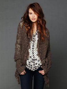 Free People Fringed Cardigan, $298.00