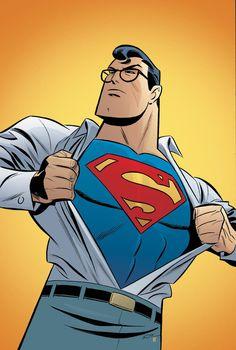 Adventures of Superman (DC Comics) - Artist: Bruce Timm Comic Book Characters, Comic Character, Comic Books Art, Comic Art, Bruce Timm, Superman Comic, Batman, Superman Ring, Superman Outfit