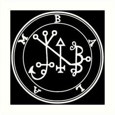 « Sceau Demon Balam » par Talismania Wiccan, Magick, Demonology, Amulets, Solomon, Glyphs, Occult, Tatt, Devil