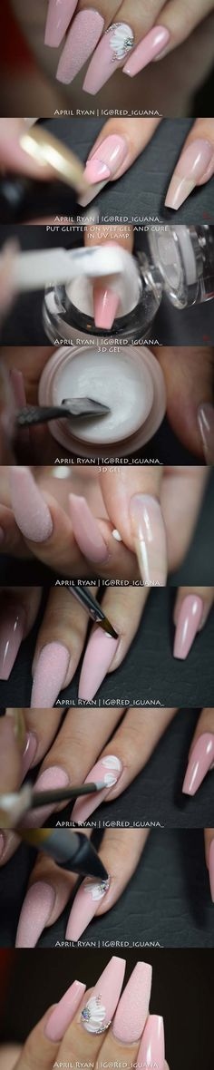 Best Nail Art Ideas for Brides - Sugar Pink Nails with 3D Gel - Simpe, Cute, DIY NailArt Tutorials That Are Step By Step For Brides. Everything From The Wedding Manicure To French Tips To Simple Sparkle and Bling For The Ring Finger. These Are Super Fun And Super Easy. - https://thegoddess.com/nail-art-ideas-for-brides
