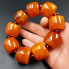 Persevering Old Beaded Bangle Amber Bracelet Beeswax Fashion Fine Bracelet Ornaments