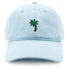 A denim baseball cap featuring an embroidered palm tree graphic in front and an adjustable strap Denim Baseball Cap, Baseball Mom, Baseball Hats, Baseball Snacks, Baseball Videos, Baseball Necklace, Baseball Signs, Baseball Season, Baseball Field