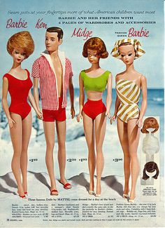 Cool old Barbies! 1963