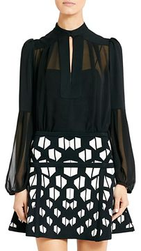 ShopStyle.com: Isolde Chiffon Blouse In Black $185.50