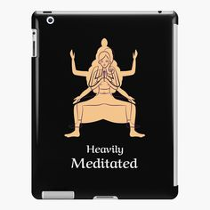 'Om Sweet Om Funny Mindfulness Yoga Fitness Pose' iPad Case/Skin by Yoga Gifts, Yoga Teacher, Ipad Case, Yoga Fitness, Meditation, Finding Yourself, My Arts, Poses, Graphic Design