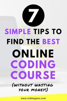 To help you save time and money, use these tips to get your money's worth with online coding courses when learning new skills in programming. Learn Programming, Computer Programming, Online Coding Courses, Coding For Beginners, Web Development Tools, Learning Web, Computer Coding, Computer Science, Importance Of Time Management