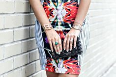 floral with simple jewelry