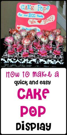 How to make a cake pop display