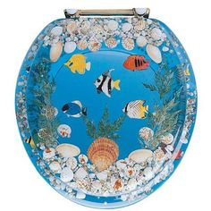 Resin Toilet Seat Fish Blue Resin Toilet Seats In