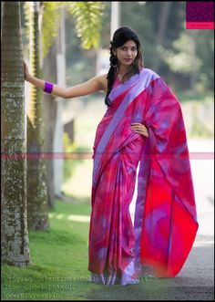 Tie dyed multicolored saree