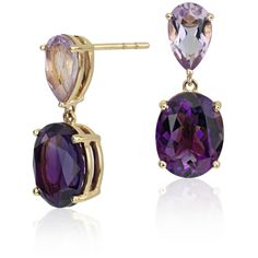Blue Nile ZAC Zac Posen Amethyst and Rose de France Earrings ($330) ❤ liked on Polyvore featuring jewelry, earrings, accessories, weddings, amethyst jewelry, 14k jewelry, 14 karat gold earrings, amethyst earrings and 14k earrings