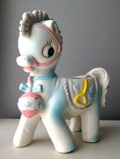 "Adorable Vintage ""Relpo"" Pony ."
