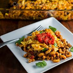Taco Pasta Bake - it's everything you love about tacos but in pasta form!