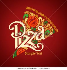 Pizza design template by best works, via ShutterStock