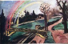 Max Beckmann - Railway Bridge and Rainbow, 1942, oil on canvas