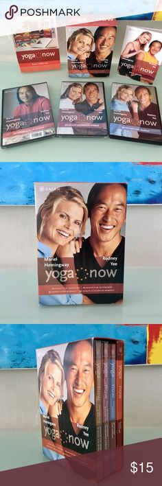 Yoga Now Rodney Yee Box Set of 3 DVD's Yoga Now with Rodney Yee and Mariel Hemingway. Set of 3 DVD's. Only 1 of the 3 has ever been opened. Two are still in original plastic. Lots of extras are included, see description on the box, you get it all. You've always wanted to try yoga or to change your routine, why wait? Gaiam Other