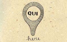 Learning Italian Language ~ Qui (here)