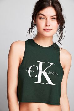 Shop Calvin Klein Cropped Tank Top at Urban Outfitters today. We carry all  the latest styles, colors and brands for you to choose from right here.