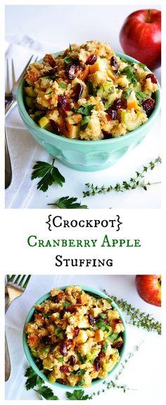 {Crockpot} Cranberry Apple Stuffing