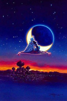 disney, aladdin, and jasmine image Disney Paintings, Disney Artwork, Disney Drawings, Aladdin Wallpaper, Disney Phone Wallpaper, Disney Love, Disney Magic, Disney Ideas, Iphone Backgrounds Tumblr