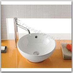 Pictures of  Round White Porcelain Ceramic Bathroom Vessel Sink Basin