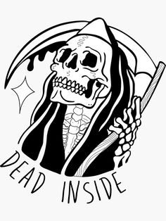 Discover millions of original works, designed by independent artists. Reaper Drawing, Alone Tattoo, Grim Reaper Tattoo, Dark Art Drawings, Cool Tattoo Drawings, Skeleton Art, Tattoo Motive, Flash Art, Skull Tattoos