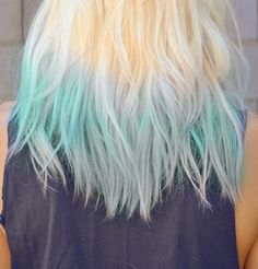 dip dye hair - cool idea but the blonde is a bit too yellow for my liking.