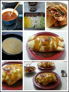 저녁은 오므라이스! 남은 쇠고기사태, 파프리카, 버섯, 브로컬리 대, 감자, 양파, 오이고추 등 냉장고 자투리를 다져 만든 볶음밥, 계란 두개로 만든 지단으로 감싼 후, 하인즈 데미그라스소스를 베이스에다 약간 재료를 첨가한 소스를 얹었다!맛?굿!^_^ 당신 요즘 음식솜씨 물 올랐어!?ㅋㅋㅋ