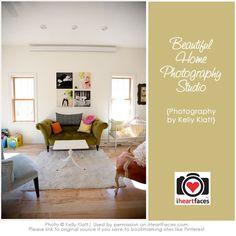 Kelly Klatt's Beautiful Home Photography Studio via I Heart Faces
